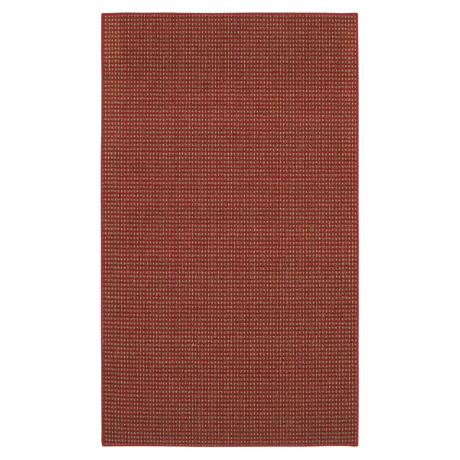 Mohawk Home Hopper Basket Red Rectangular Indoor Tufted Area Rug (Common: 5 x 7; Actual: 60-in W x 84-in L)