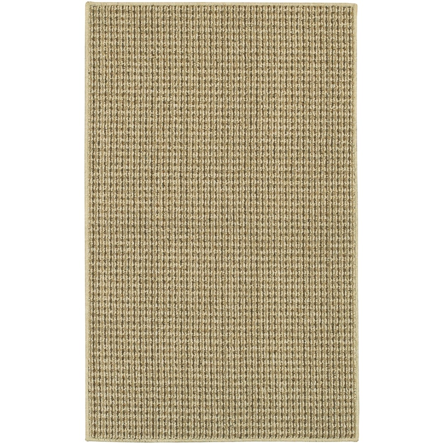 Mohawk Home Hopper Basket Beige Rectangular Cream Transitional Tufted Area Rug (Common: 5-ft x 7-ft; Actual: 5-ft x 7-ft)