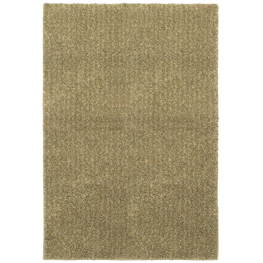 Mohawk Home Aurora Shag 5-ft x 8-ft Rectangular Beige Transitional Area Rug