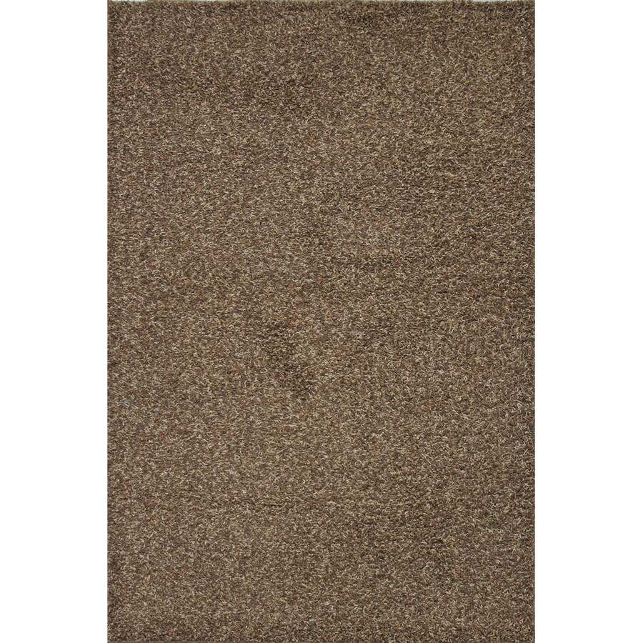 Mohawk Home Traverse Shag 5-ft x 8-ft Rectangular Brown Transitional Area Rug