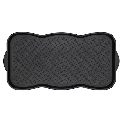 Black Rectangular Boot Tray Common 1 2 Ft X Actual 15 In 29 5