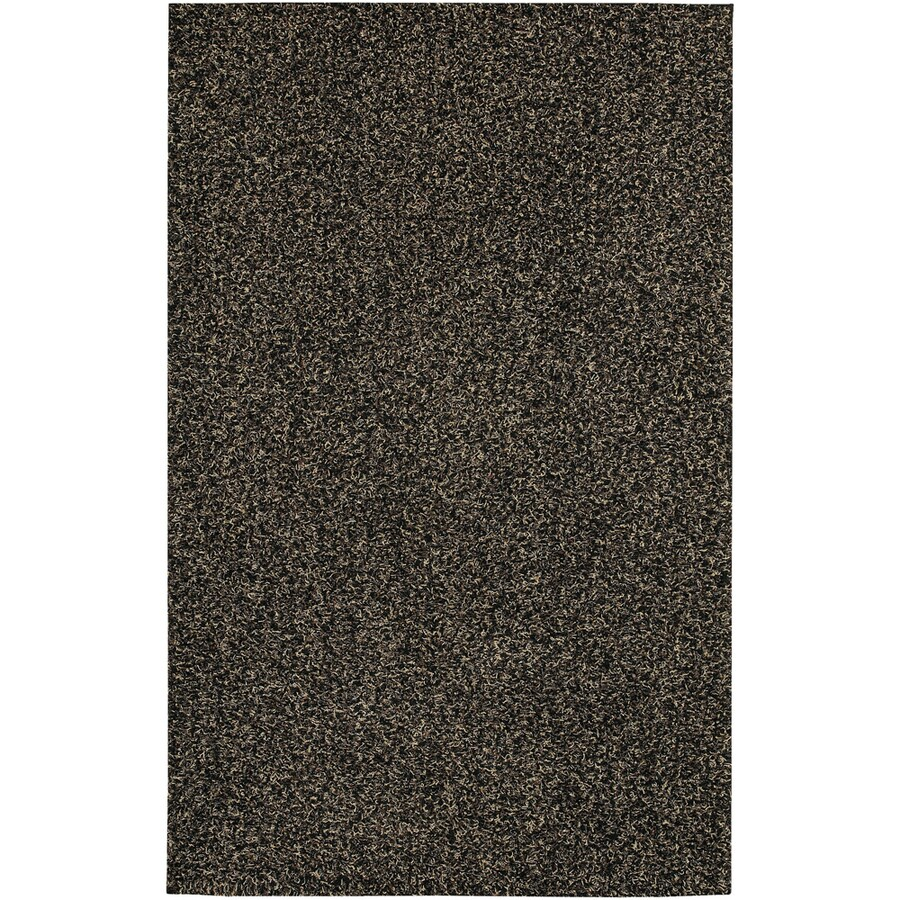 Mohawk Home Perry Shag Brown Black Rectangular Indoor Tufted Area Rug (Common: 8 x 10; Actual: 8-ft W x 10-ft L x 0.5-ft Dia)