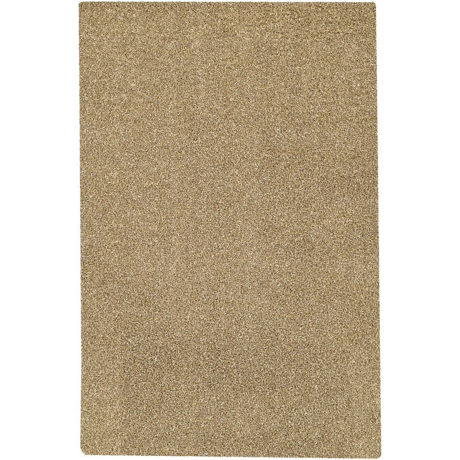 Mohawk Home Perry Shag Beige Ivory Rectangular Indoor Tufted Area Rug (Common: 8 x 10; Actual: 96-in W x 120-in L x 0.5-ft Dia)