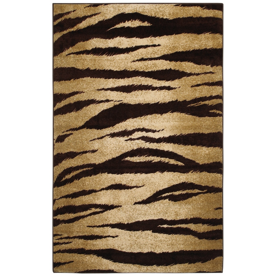 Mohawk Home Wildfire Animal Print 5-ft x 8-ft Rectangular Tan Transitional Area Rug