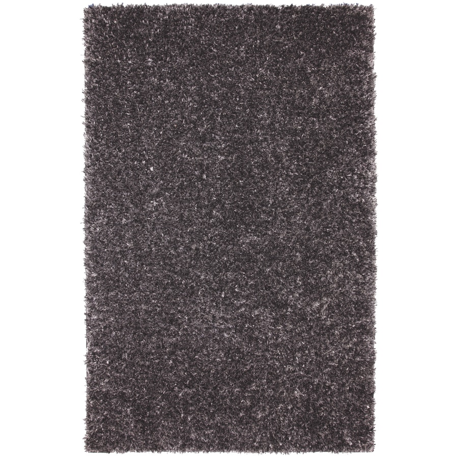 Mohawk Home Shimmer Graphite Gray Rectangular Indoor Tufted Area Rug (Common: 5 x 8; Actual: 60-in W x 96-in L x 0.5-ft Dia)