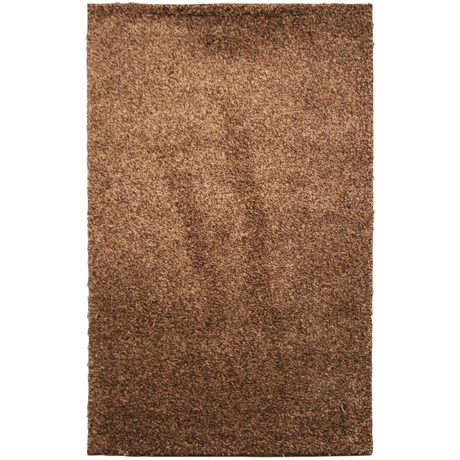 Mohawk Home Kodiak Shag Hazel Gold Rectangular Indoor Machine-Made Inspirational Area Rug (Common: 5 x 8; Actual: 5-ft W x 8-ft L x 0.5-ft dia)
