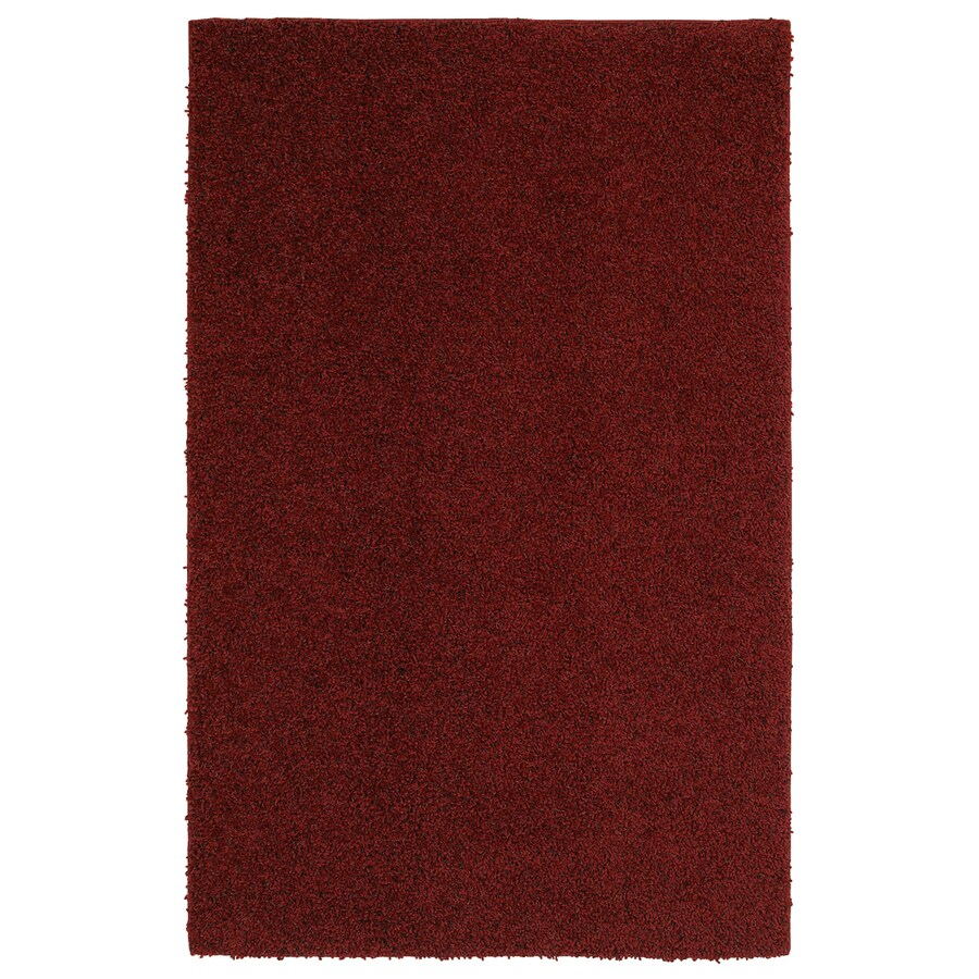 Mohawk Home Kodiak Rusty Red Shag Rectangular Indoor Machine-Made Inspirational Area Rug (Common: 8 x 10; Actual: 8-ft W x 10-ft L x 0.5-ft dia)
