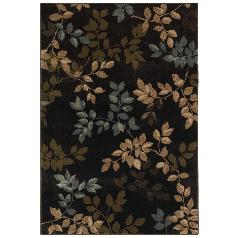 Mohawk Home Alcott Brown Rectangular Indoor Woven Area Rug