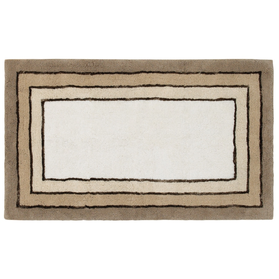 Style Selections Rectangular Tufted Throw Rug