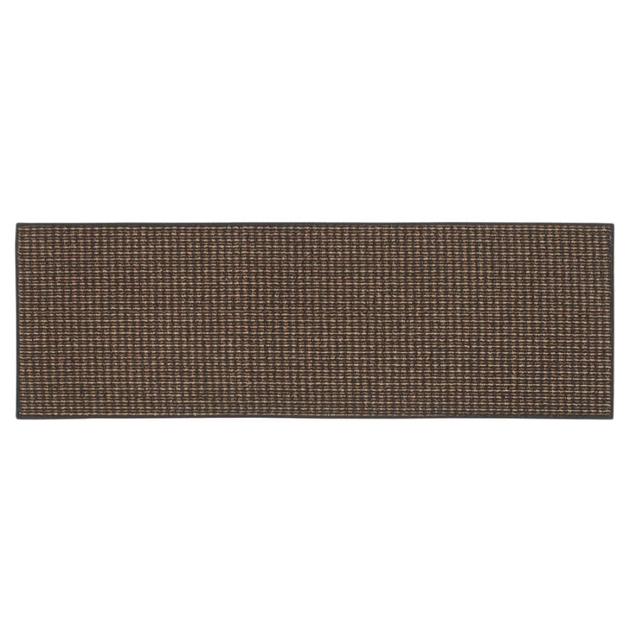 Style Selections Black Rectangular Indoor Tufted Throw Rug (Common: 2 x 4; Actual: 2-ft W x 5-ft L x 0.5-ft Dia)