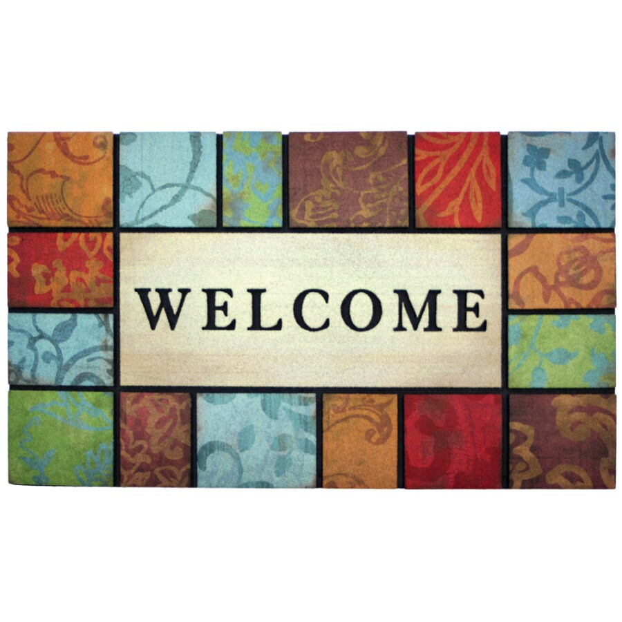 Style Selections Rectangular Door Mat (Common: 1-1/2-ft x 2-1/2-ft; Actual: 18-in x 30-in)