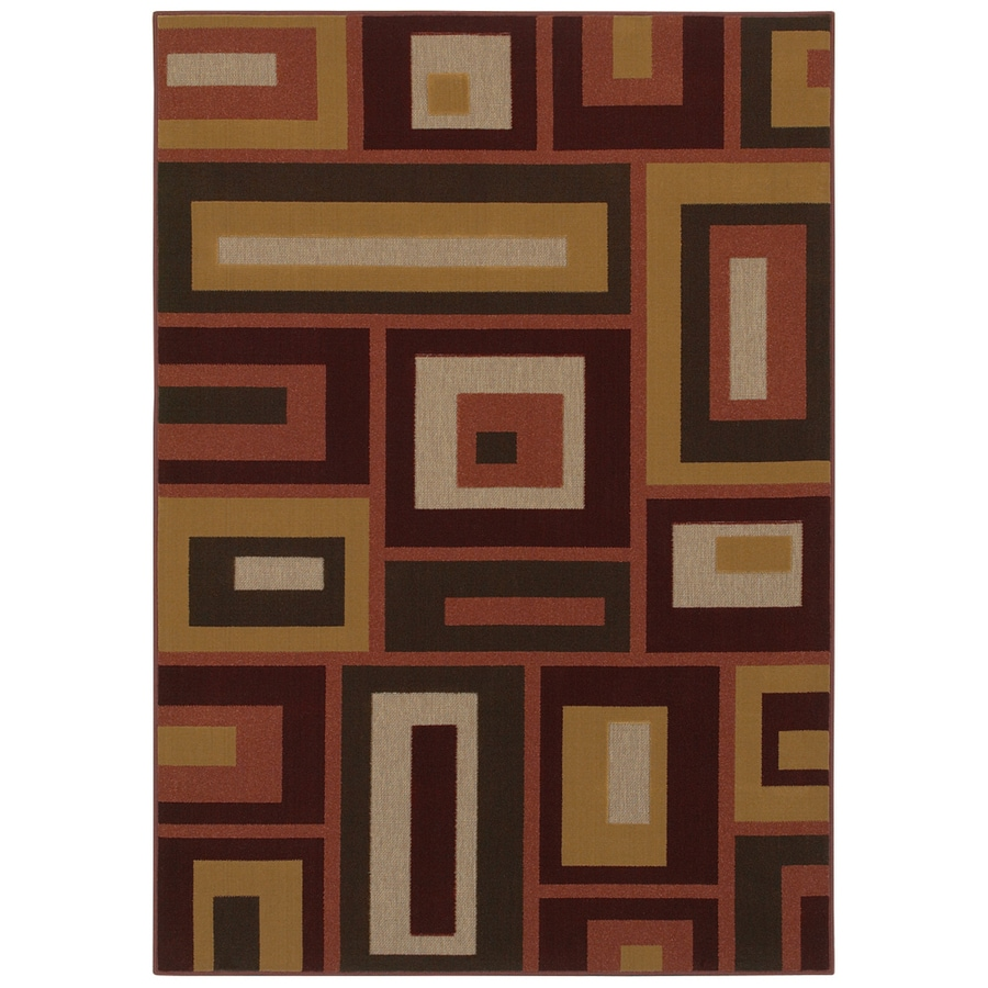Mohawk Home Desert Frames 5-ft x 7-ft Rectangular Tan Transitional Area Rug