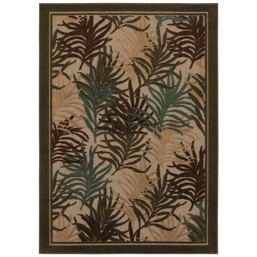 Mohawk Home Dover Fern 5-ft x 7-ft Rectangular Tan Transitional Area Rug