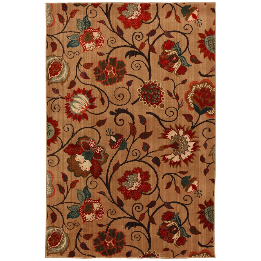 Mohawk Home Eason Md 5-ft 3-in x 7-ft 10-in Rectangular Beige Floral Area Rug