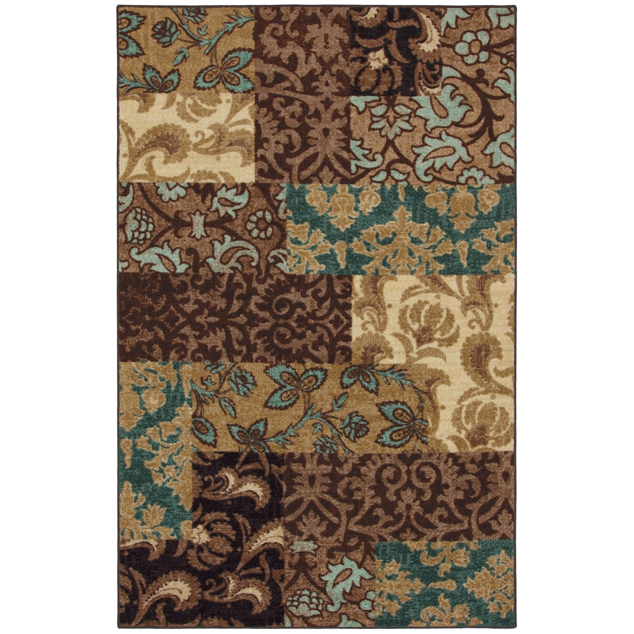 Mohawk Home Select Strata Sardina Blue Rectangular Indoor Woven Area Rug (Common: 8 x 10; Actual: 96-in W x 120-in L x 0.5-ft Dia)