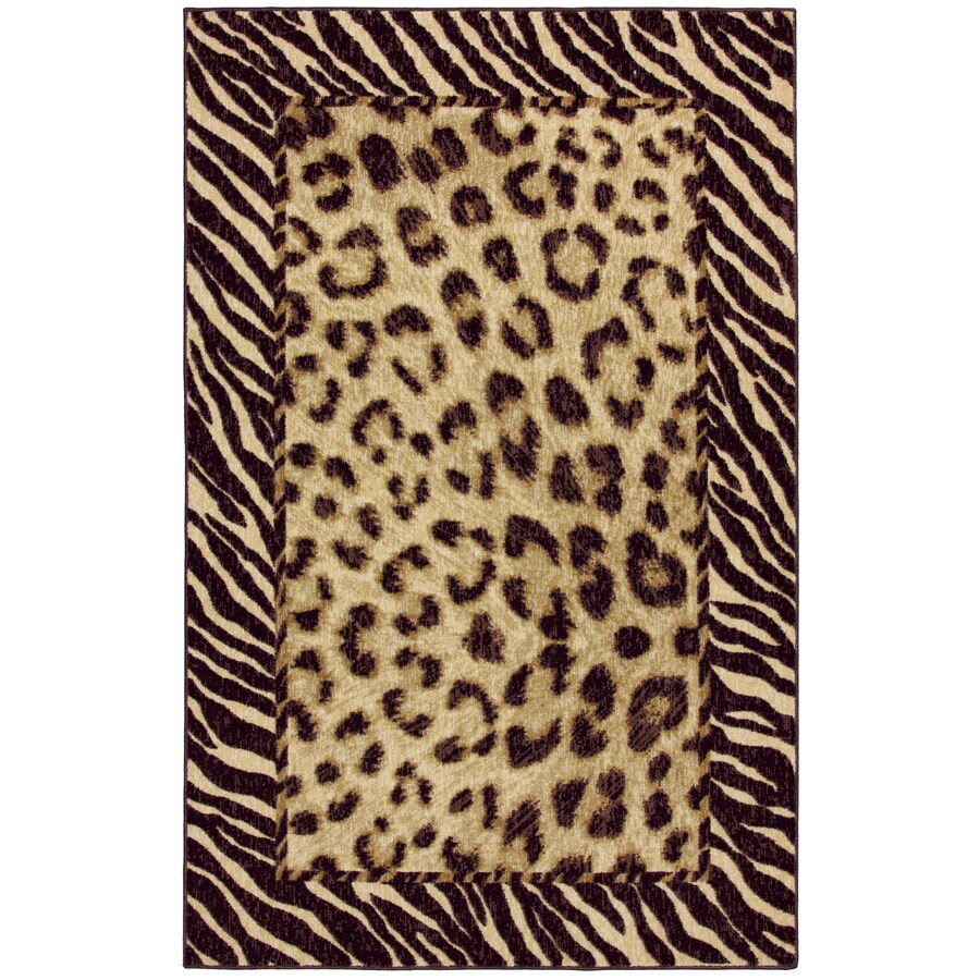 Mohawk Home Select Woodgrain Tigress Rectangular Brown Transitional Woven Area Rug (Common: 5-ft x 8-ft; Actual: 60-in x 96-in)
