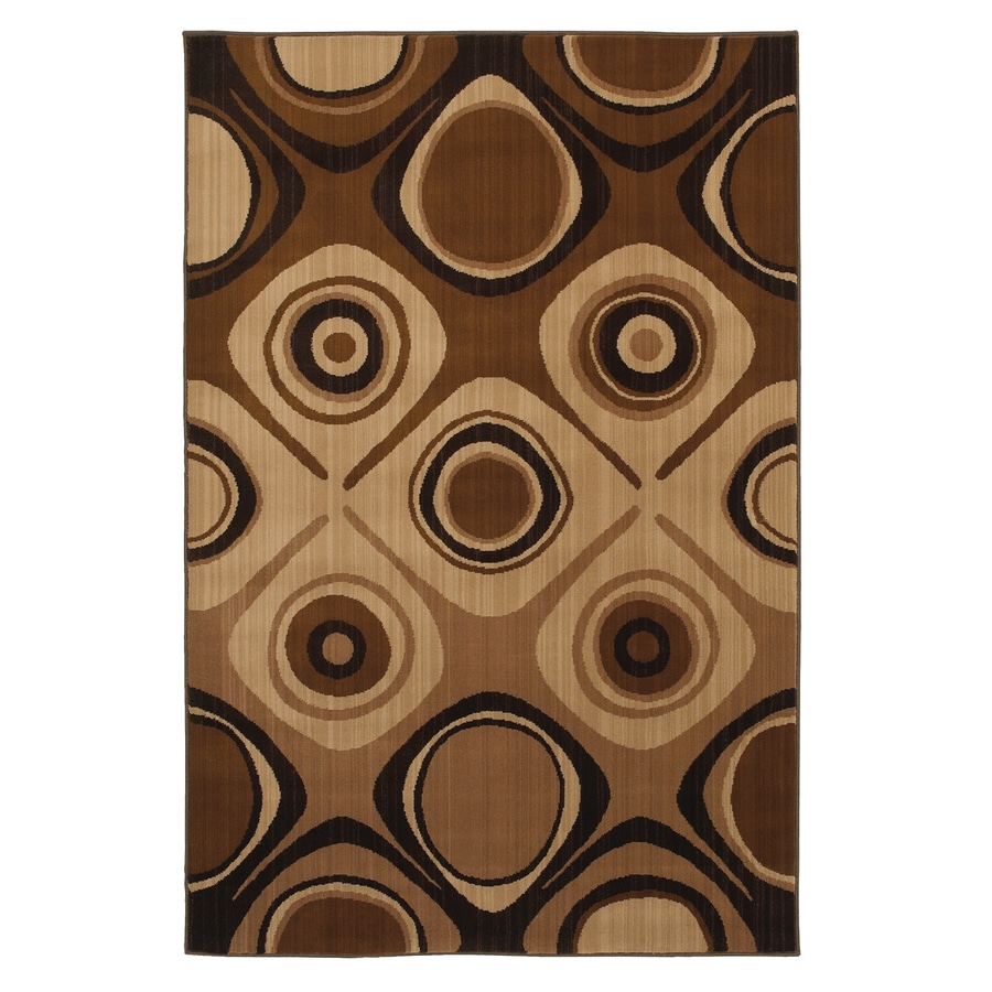 Mohawk Home Select Kaleidoscope Danger Zone Beige Brown Rectangular Indoor Woven Area Rug (Common: 8 x 11; Actual: 96-in W x 132-in L x 0.5-ft Dia)
