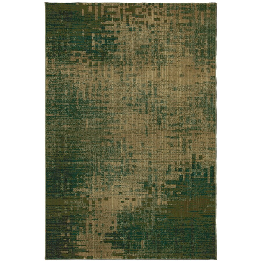 Mohawk Home Select Kaleidoscope Inferno Green Rectangular Green Transitional Woven Area Rug (Common: 5-ft x 8-ft; Actual: 63-in x 94-in)