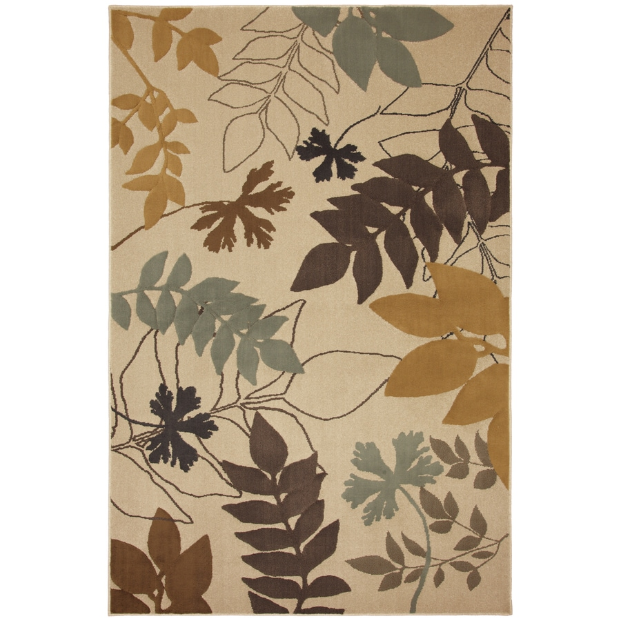 Mohawk Home Select Cambridge Hidden Escape Beige Rectangular Cream Transitional Woven Area Rug (Common: 5-ft x 8-ft; Actual: 5.25-ft x 7.83-ft)