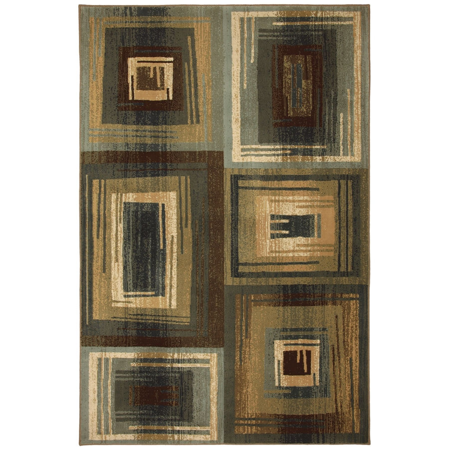 Mohawk Home Select Cambridge Vibration Blue Rectangular Blue Transitional Woven Area Rug (Common: 5-ft x 8-ft; Actual: 5.25-ft x 7.83-ft)