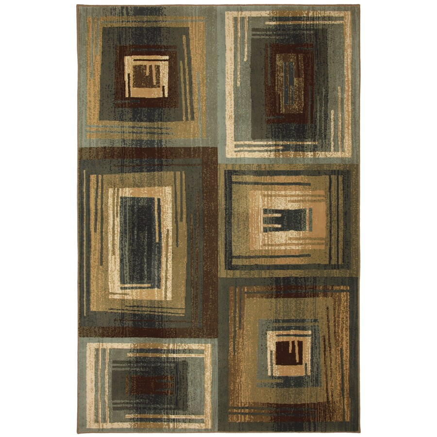 Mohawk Home Select Cambridge Vibration Blue Rectangular Blue Transitional Woven Area Rug (Common: 8-ft x 11-ft; Actual: 8-ft x 11-ft)