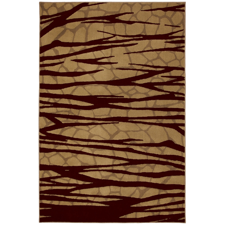 Mohawk Home Select Cambridge Forbidden Entry Rectangular Brown Transitional Woven Area Rug (Common: 8-ft x 11-ft; Actual: 8-ft x 11-ft)