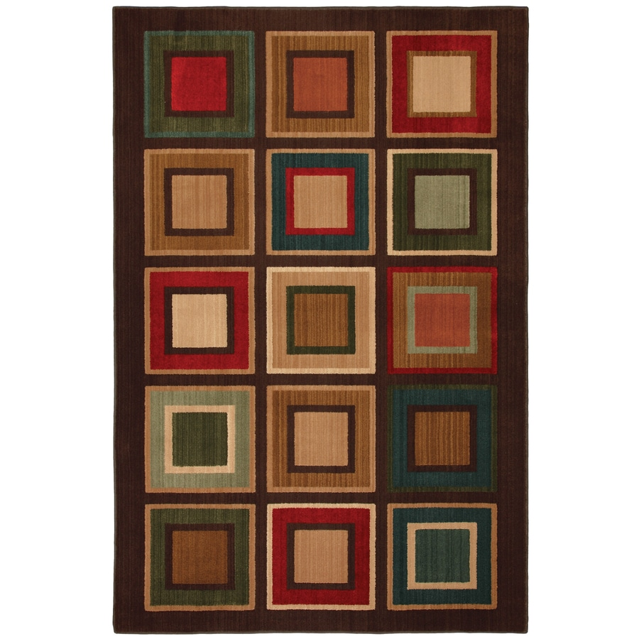 Mohawk Home Select Kensington City Center 8-ft x 11-ft Rectangular Green Transitional Area Rug