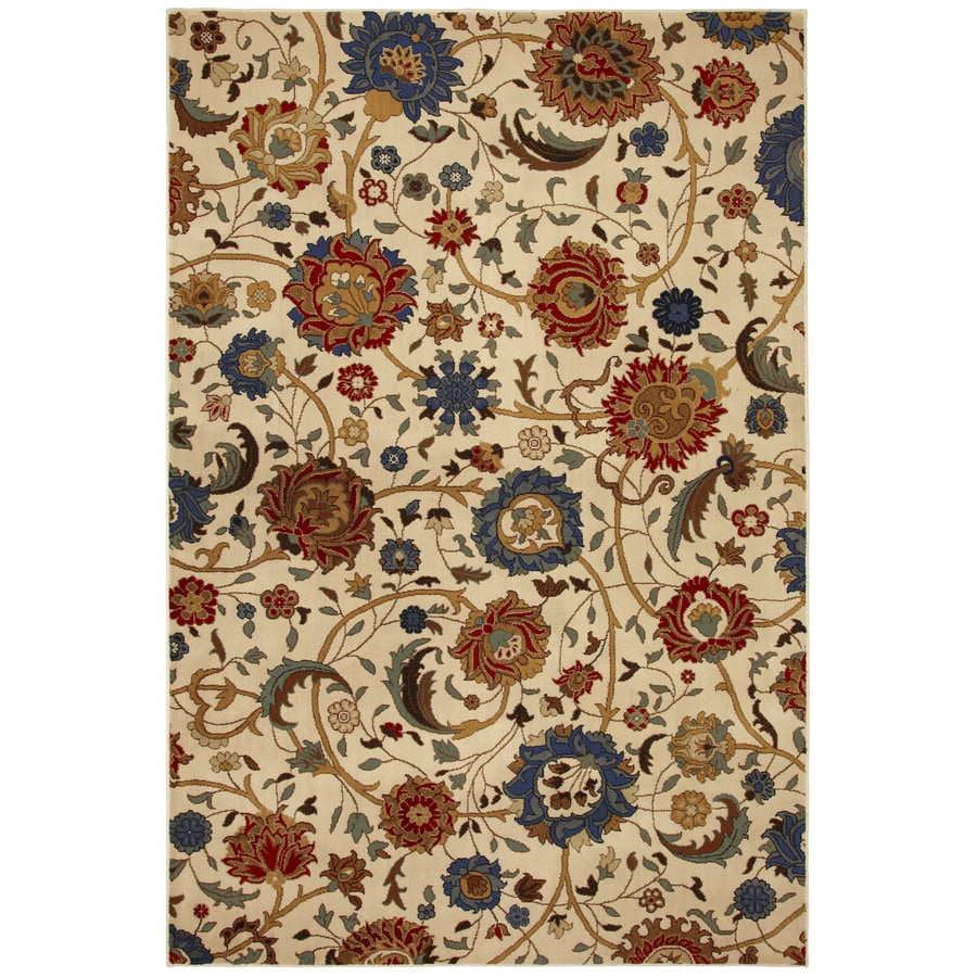 Mohawk Home Select Versailles Whispering Vines Rectangular Cream Transitional Woven Area Rug (Common: 8-ft x 11-ft; Actual: 96-in x 132-in)