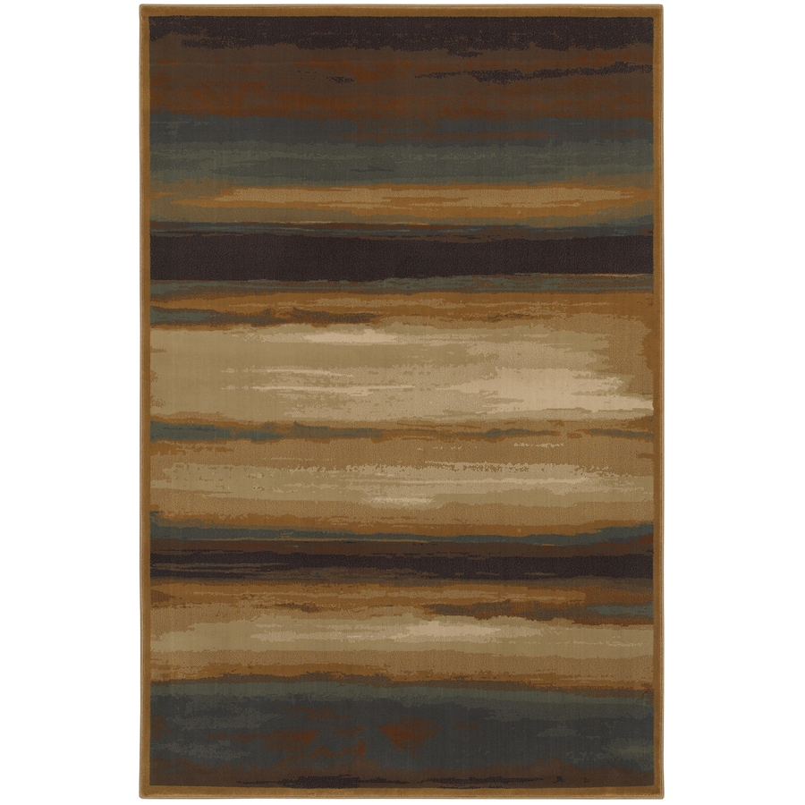 Mohawk Home Select Versailles Skyways Blue Rectangular Blue Transitional Woven Area Rug (Common: 5-ft x 8-ft; Actual: 63-in x 94-in)