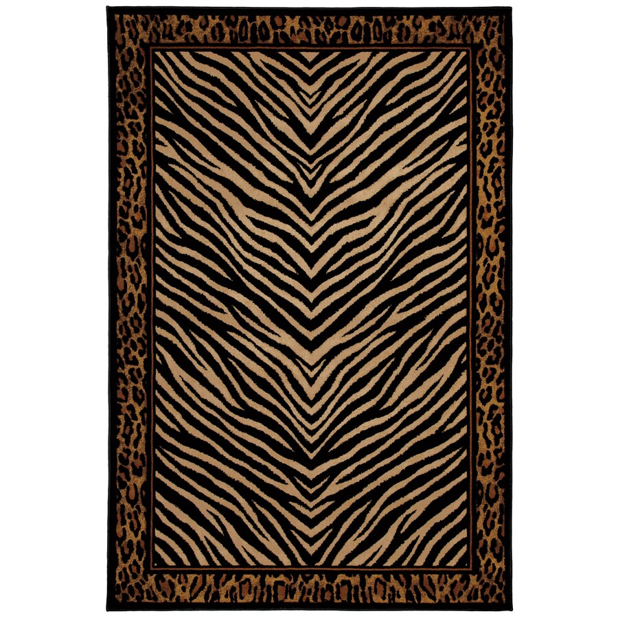 Mohawk Home Raymond Waites Sahara Rectangular Black Transitional Woven Area Rug (Common: 5-ft x 8-ft; Actual: 5.25-ft x 7.83-ft)