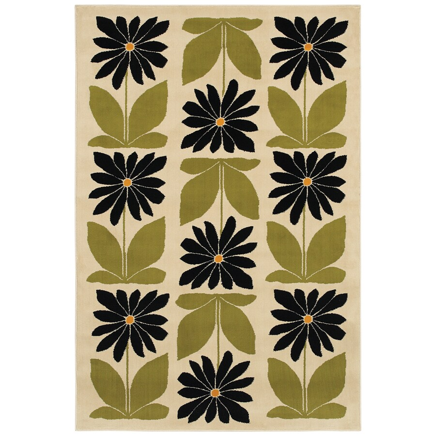 Mohawk Home Kansas Spring 5-ft 3-in x 7-ft 10-in Rectangular Beige Transitional Area Rug