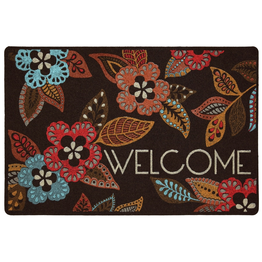 Style Selections Rectangular Door Mat (Actual: 18-in x 27-in)