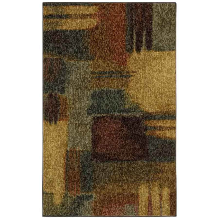 Mohawk Home Montage Heritage Multicolor Rectangular Indoor Machine-Made Inspirational Area Rug (Common: 8 x 10; Actual: 8-ft W x 10-ft L x 0.5-ft dia)
