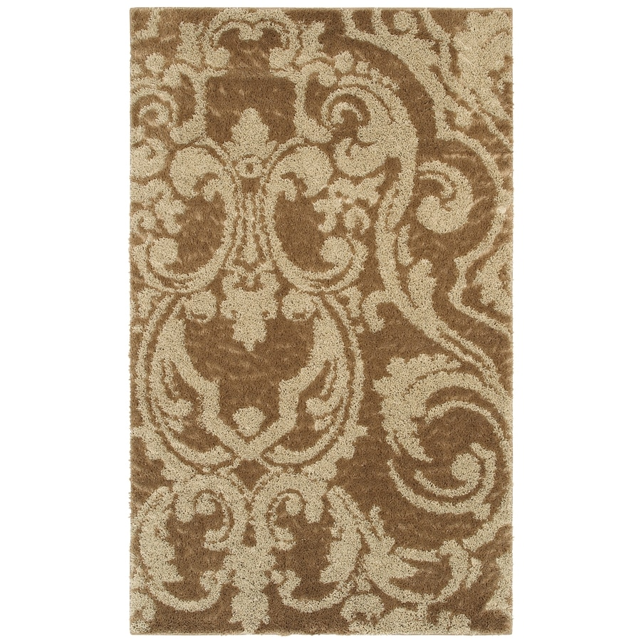 Mohawk Home Wilkshire Apple Butter Biscuit Brown Rectangular Indoor Tufted Area Rug (Common: 8 x 10; Actual: 8-ft W x 10-ft L x 0.5-ft Dia)