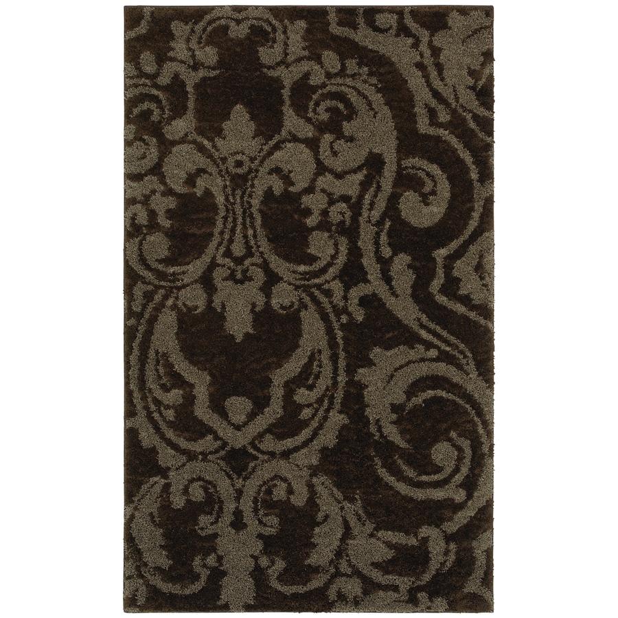 Mohawk Home Wilkshire Mink Lichen Brown Rectangular Indoor Tufted Area Rug (Common: 5 x 8; Actual: 60-in W x 96-in L x 0.5-ft Dia)