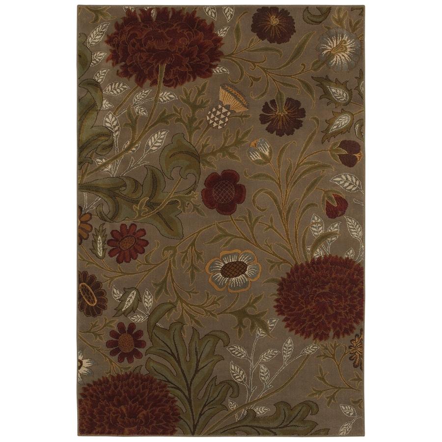 Mohawk Home Vintage Floral 5-ft 3-in x 7-ft 10-in Rectangular Beige Floral Area Rug