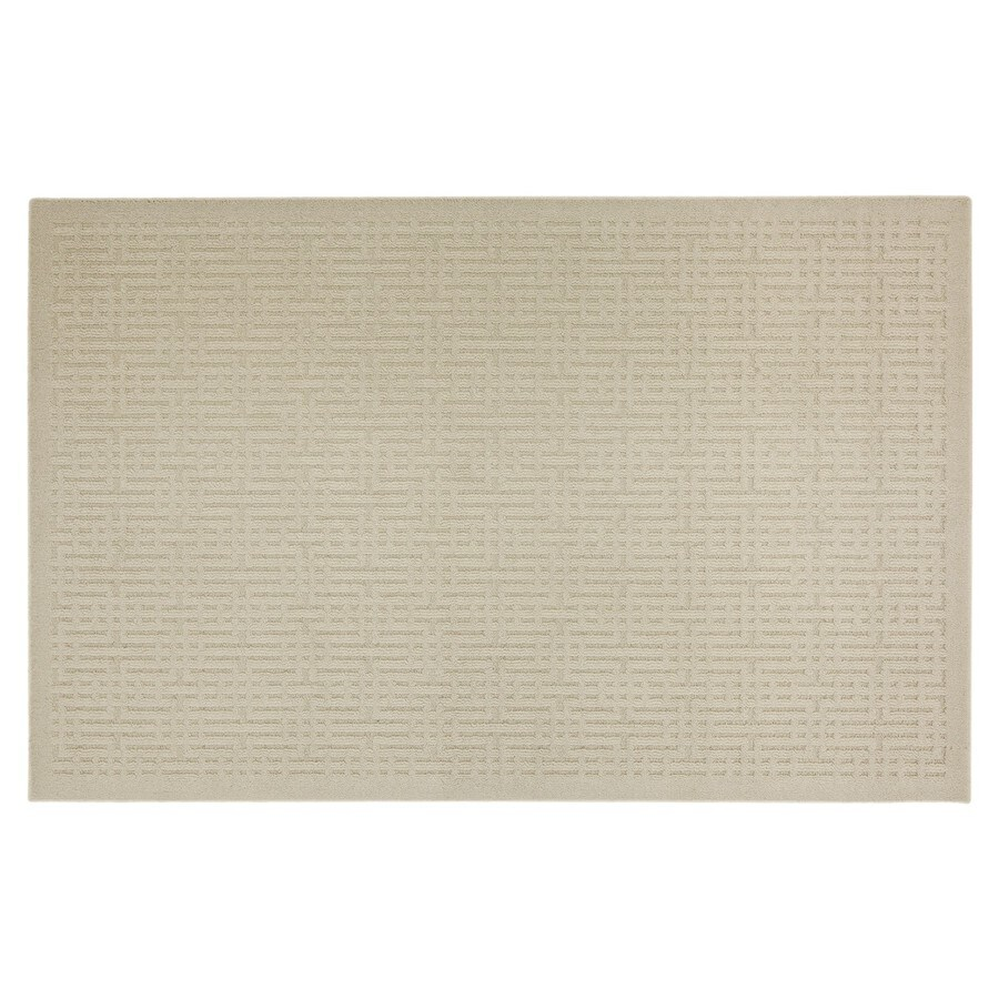 Mohawk Home Quincy Keywork Beige Gray Rectangular Indoor Tufted Throw Rug (Common: 2 x 3; Actual: 20-in W x 34-in L x 0.5-ft Dia)