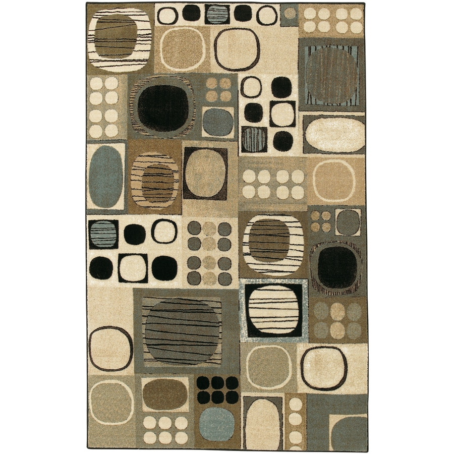 Mohawk Home Silas Geometric Neutral 8-ft x 10-ft Rectangular Beige Geometric Area Rug
