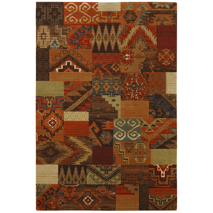 Mohawk Home Larado 8-ft x 10-ft Rectangular Multicolor Transitional Area Rug