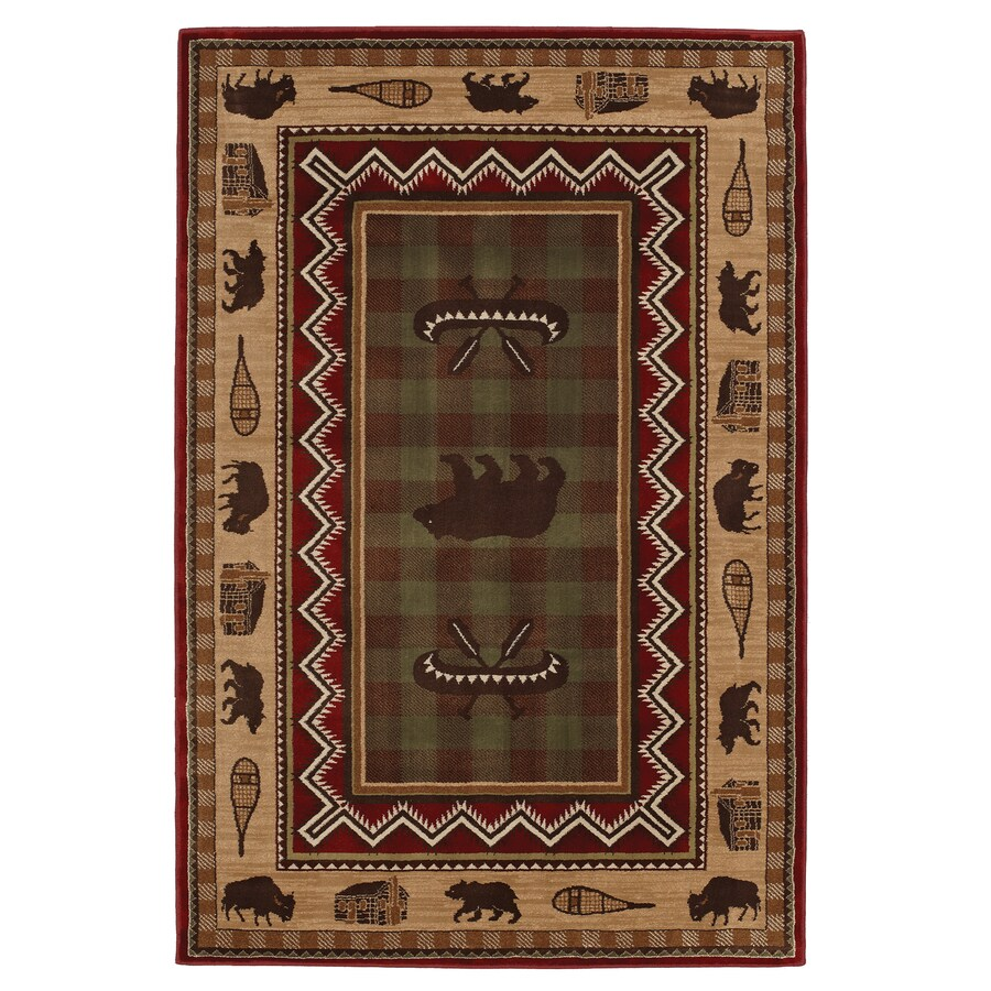 Mohawk Home Summerfield Lt Dark Brown Multicolor Rectangular Indoor Woven Area Rug (Common: 8 x 10; Actual: 96-in W x 120-in L x 0.5-ft Dia)