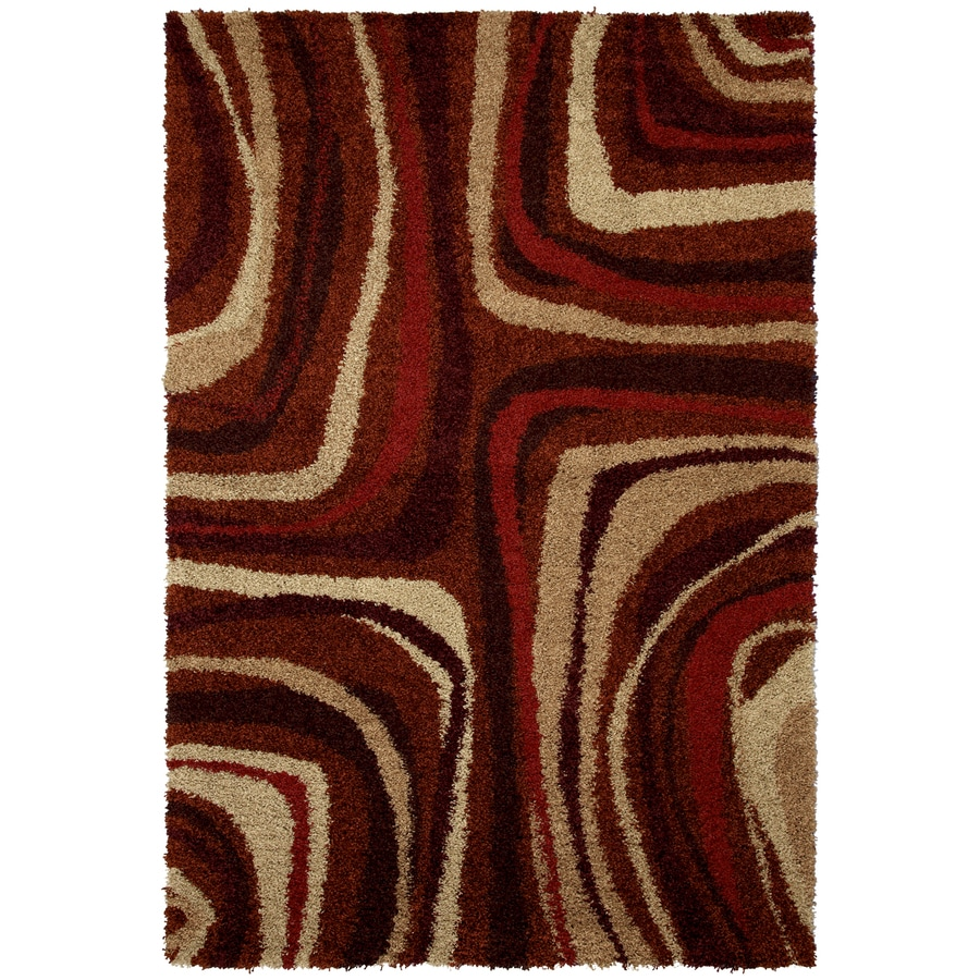 Mohawk Home Masterpiece Red Rectangular Indoor Woven Area Rug (Common: 8 x 10; Actual: 96-in W x 120-in L x 0.5-ft Dia)