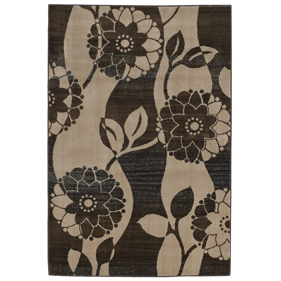 Mohawk Home Addison Flower 5-ft 3-in x 7-ft 10-in Rectangular Tan Floral Area Rug