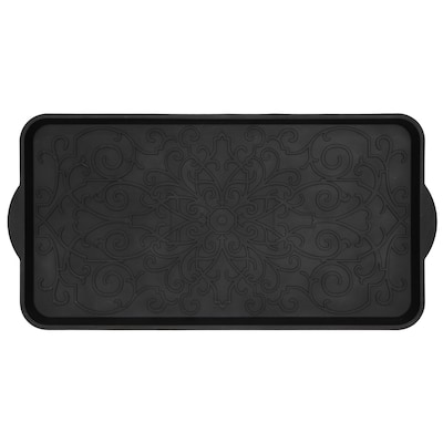 Black Rectangular Boot Tray Common 1 2 Ft X Actual 14 5 In 29