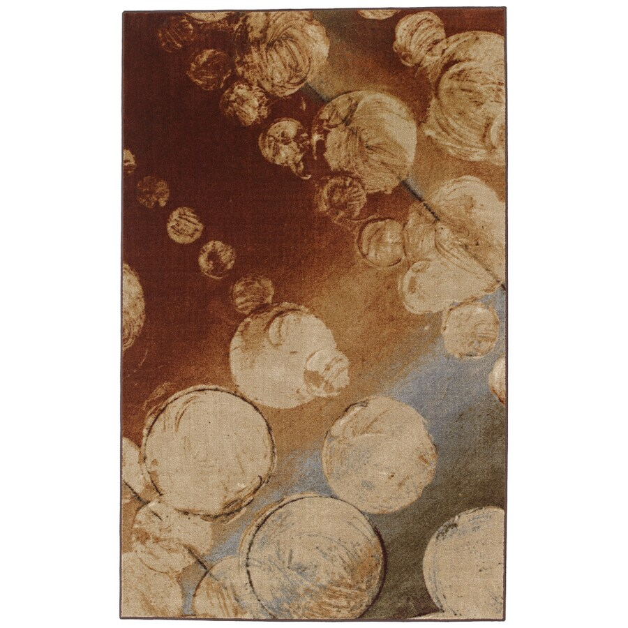Mohawk Home Prismatic Rain Multi Rectangular Cream Transitional Tufted Area Rug (Common: 8-ft x 10-ft; Actual: 8-ft x 10-ft)