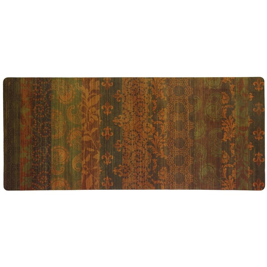 Mohawk Home Orange Rectangular Door Mat (Common: 2-ft x 4-ft; Actual: 20-in x 48-in)
