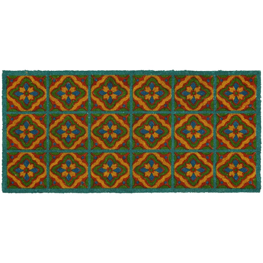 Style Selections Rectangular Door Mat (Actual: 22-in x 47-in)