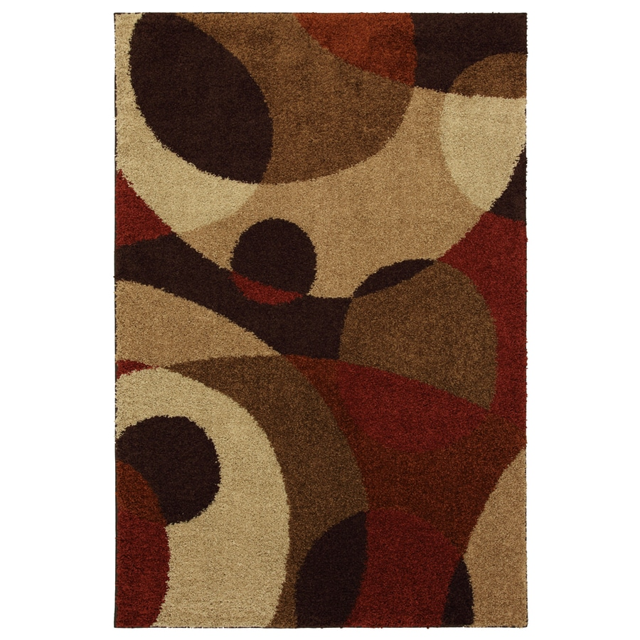 Mohawk Home Hemlock Abstract 5-ft 3-in x 7-ft 10-in Rectangular Tan Transitional Area Rug