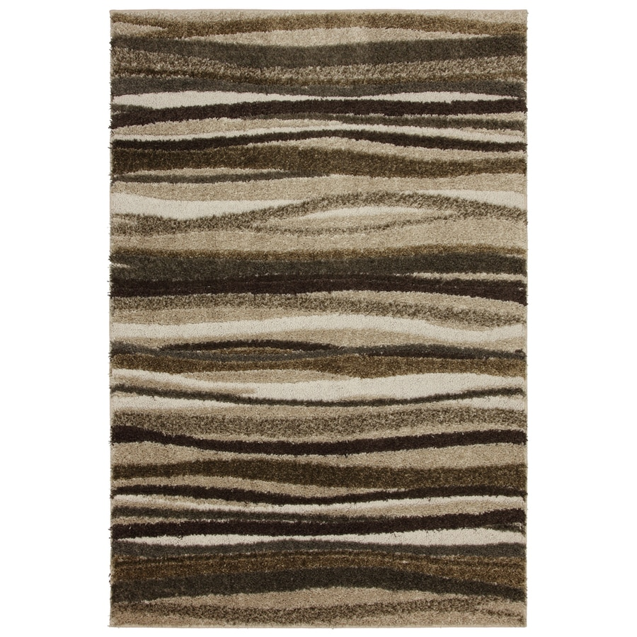 Mohawk Home Savannah Wave 5-ft 3-in x 7-ft 10-in Rectangular Beige Transitional Area Rug
