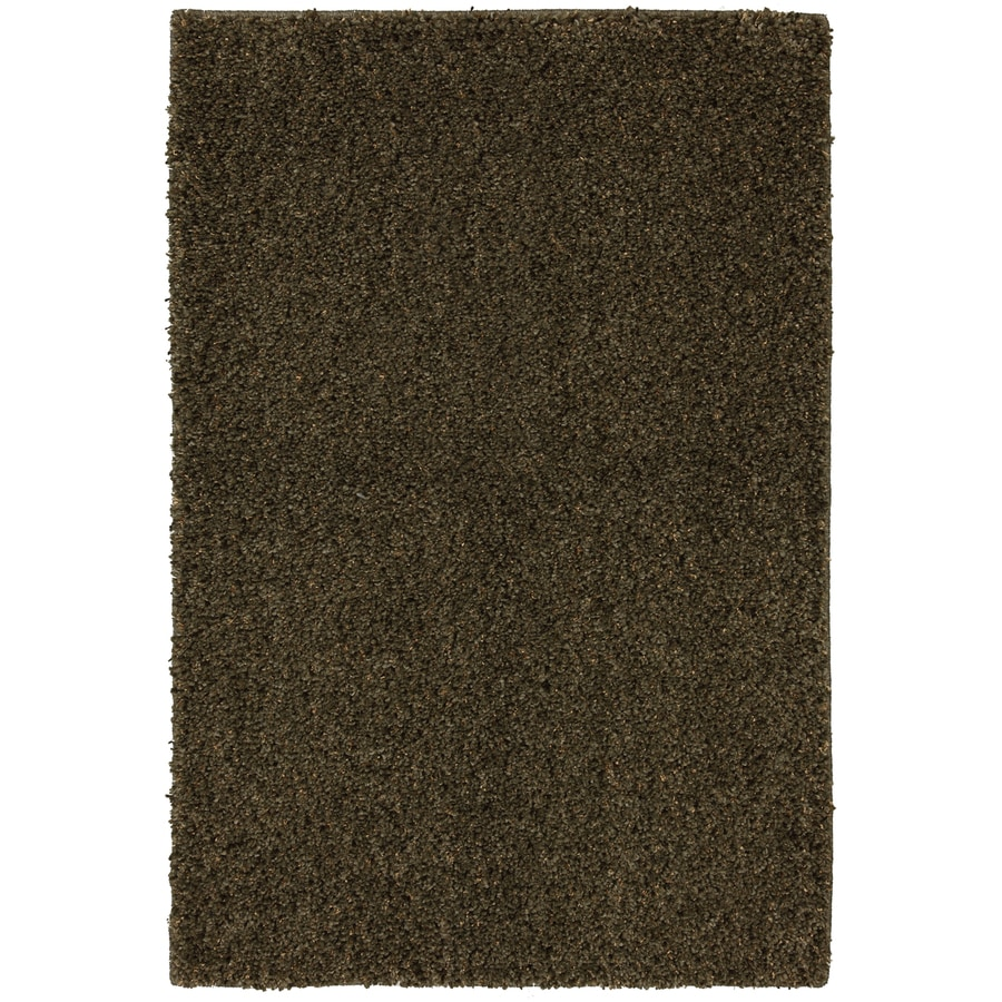 Mohawk Home Shearling Boucle Lichen Garden 8-ft x 10-ft Rectangular Brown Transitional Area Rug