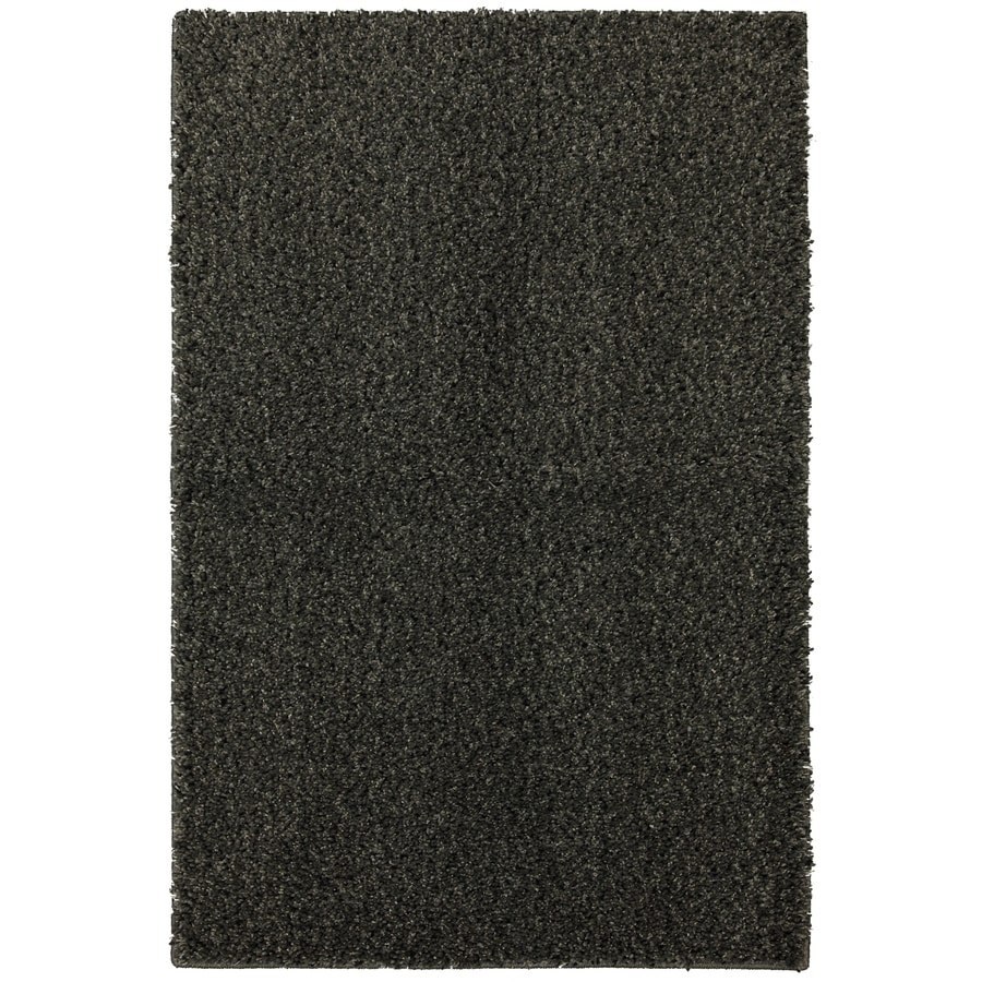 Mohawk Home Shearling Boucle Graystone 5-ft x 8-ft Rectangular Gray Transitional Area Rug